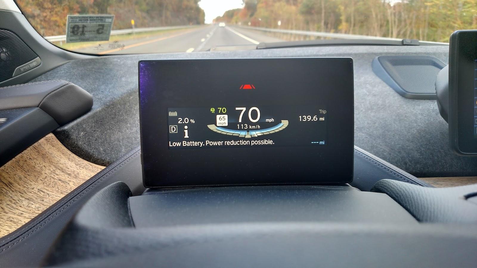 BMW i3 charge state