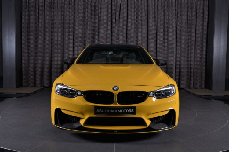 Speed Yellow BMW M4 Competition Individual Tuning Abu Dhabi 02 750x500