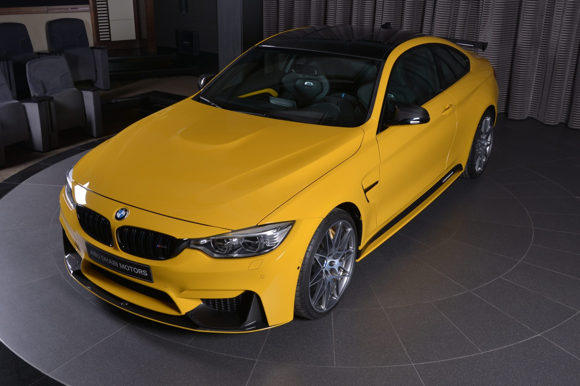 Speed Yellow BMW M4 Competition Individual Tuning Abu Dhabi 03