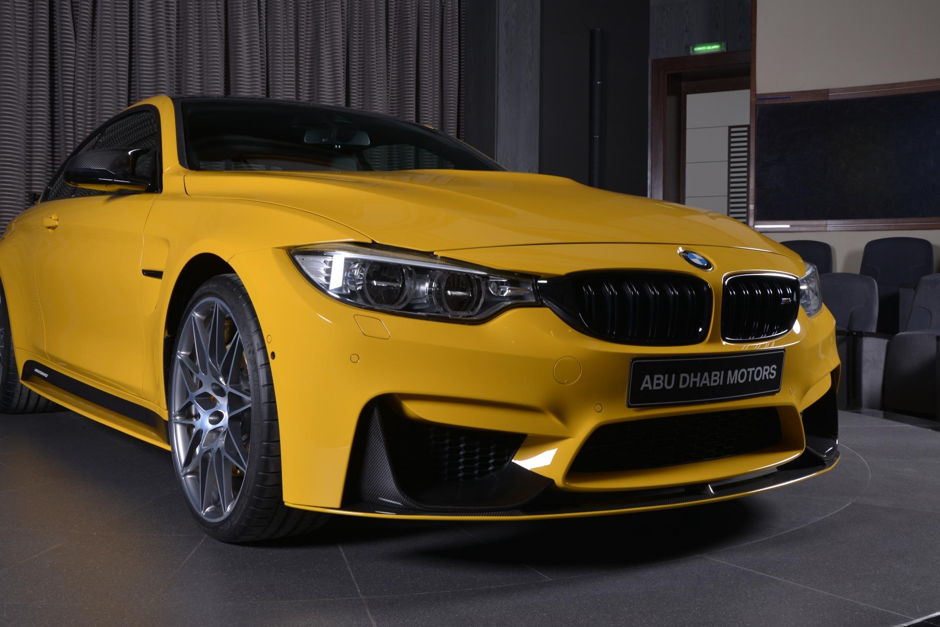 speed yellow bmw m4 competition package with tuning. Black Bedroom Furniture Sets. Home Design Ideas
