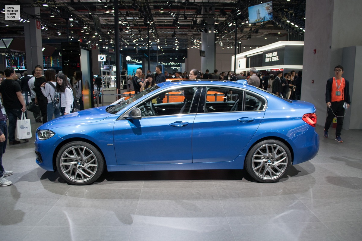 bmw 1 series sedan in debuts at shanghai motor show. Black Bedroom Furniture Sets. Home Design Ideas
