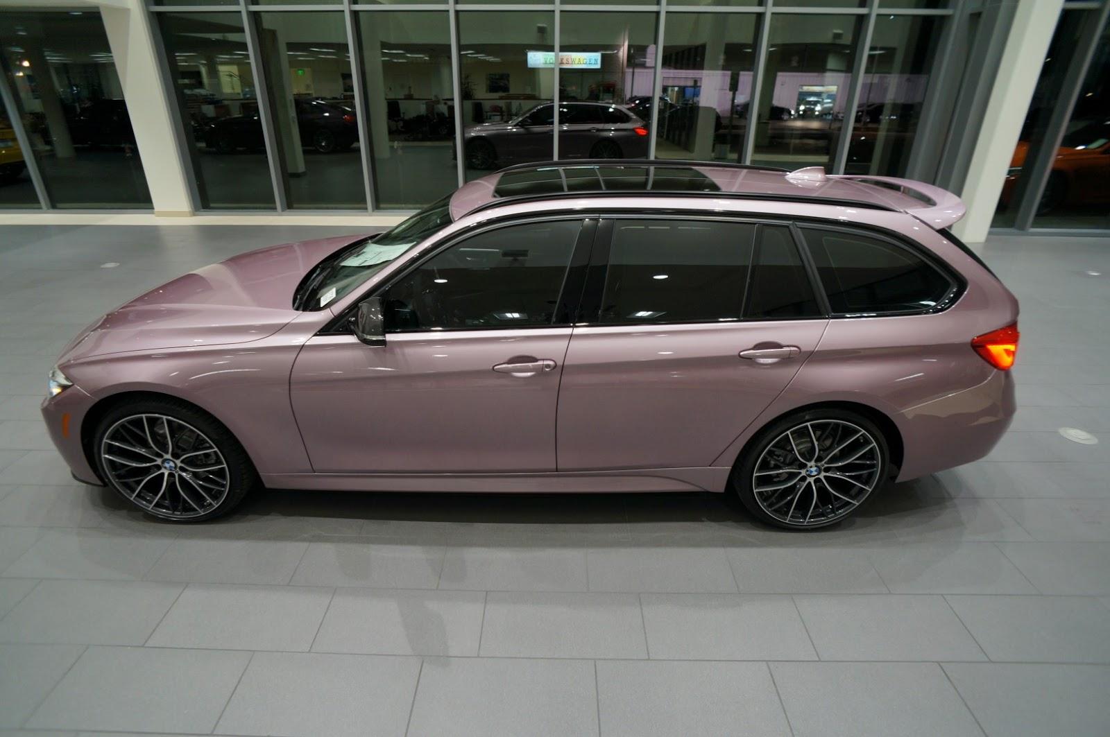 bmw indiv pink 328d touring 1