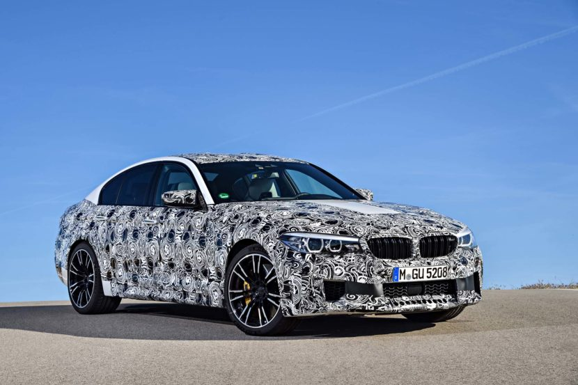 2018 BMW M5 Prototype front three quarter 830x553