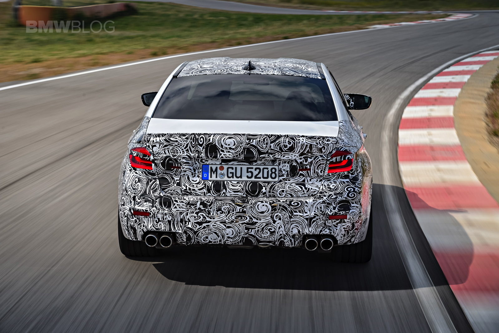 2018 BMW M5 pre production drive 26