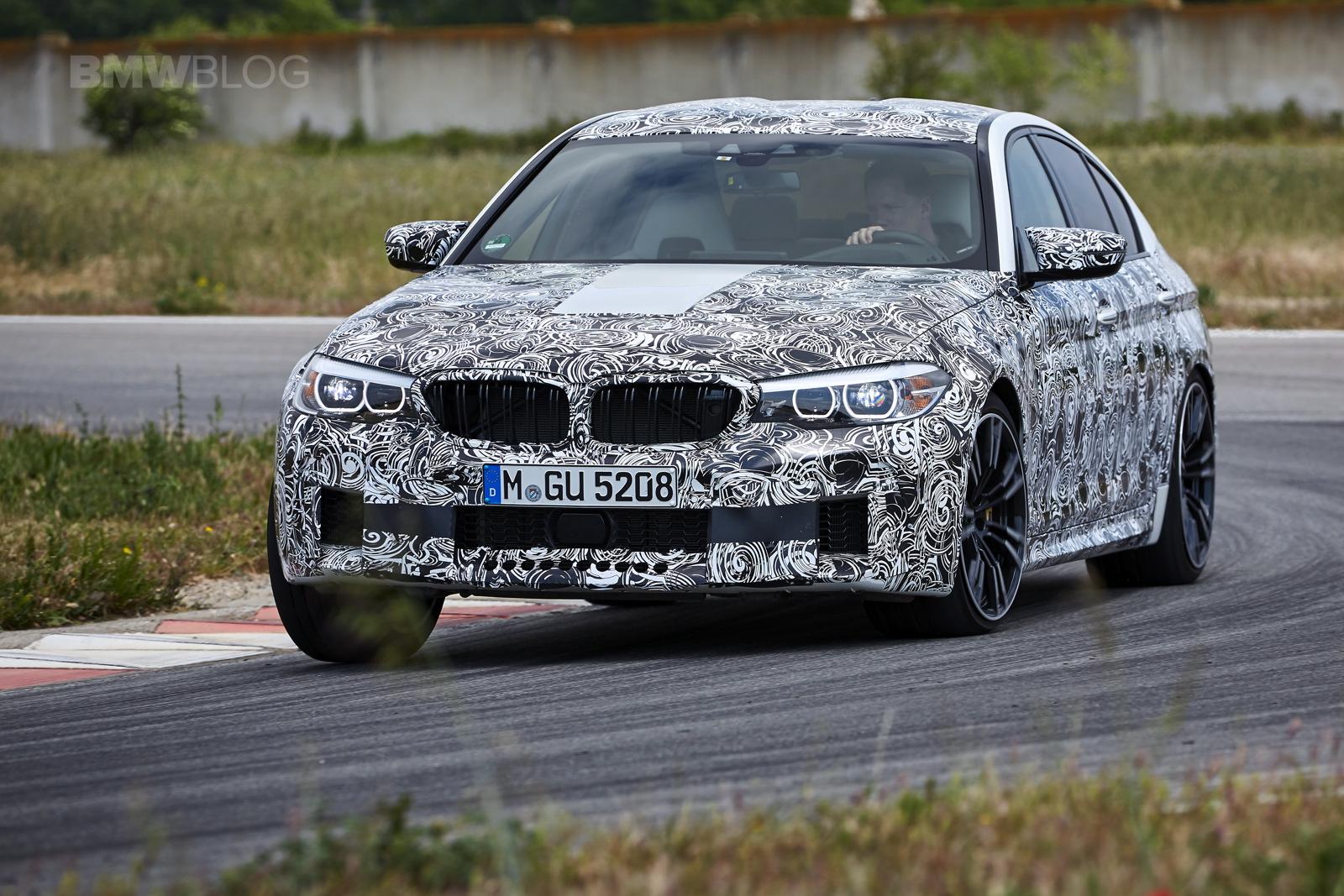 2018 BMW M5 pre production drive 45