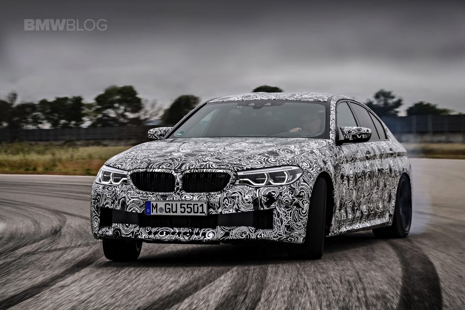 2018 BMW M5 pre production drive 69