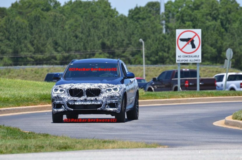 2019 BMW X4 spy shots 1 830x549