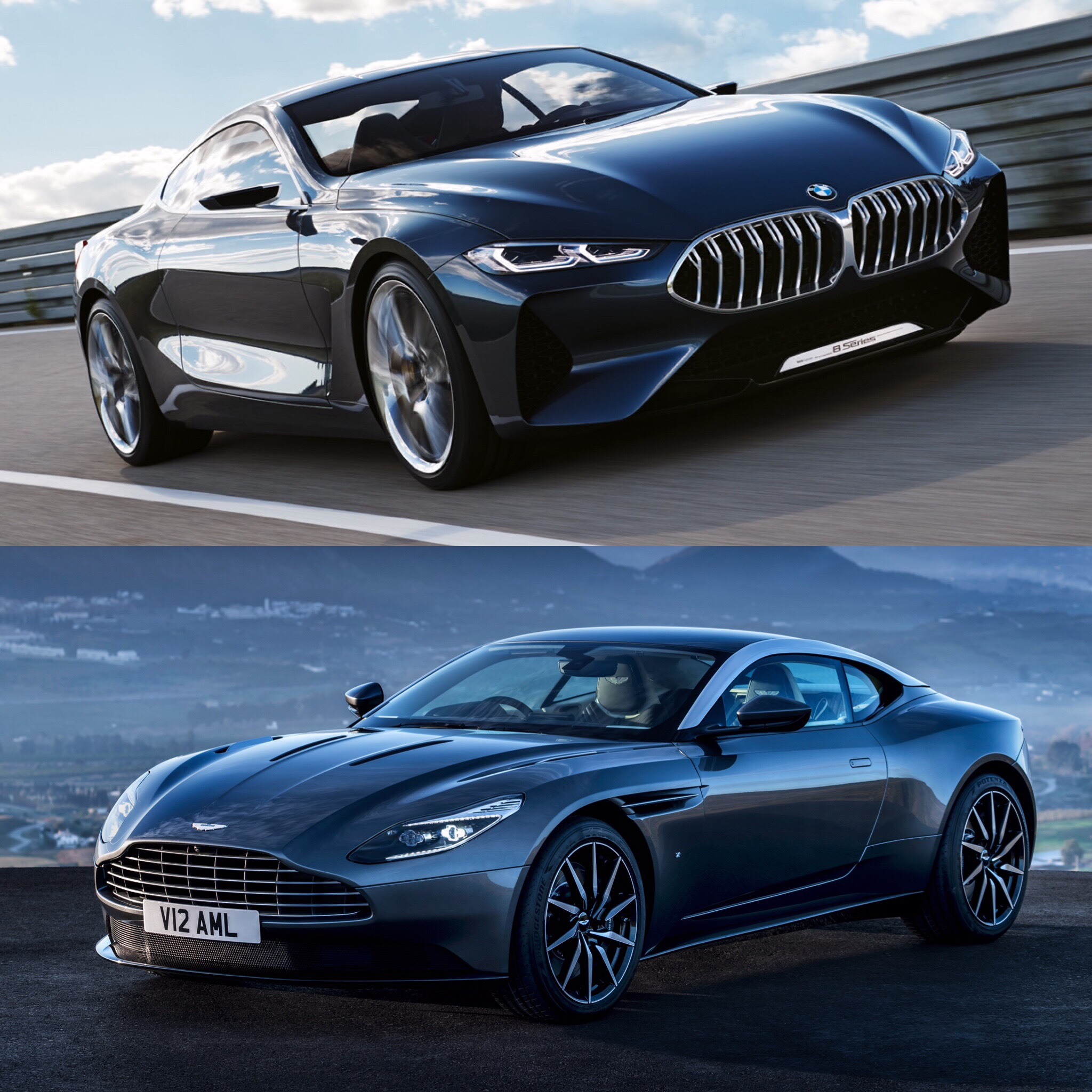 Photo Comparison Bmw 8 Series Concept Vs Aston Martin Db11