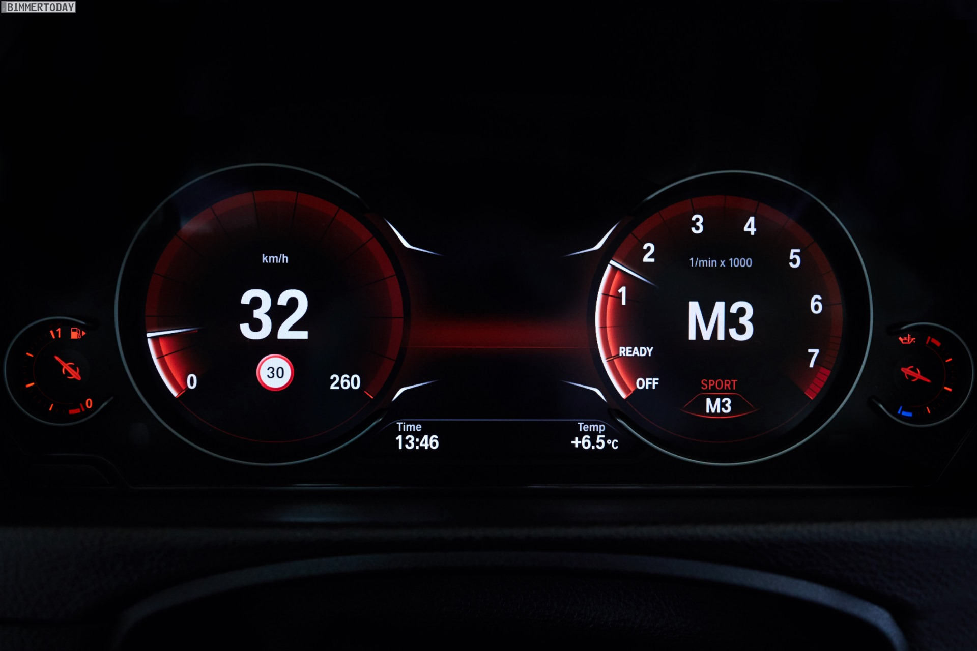 BMWs New Multifunction Instrument Display On New 3 Series