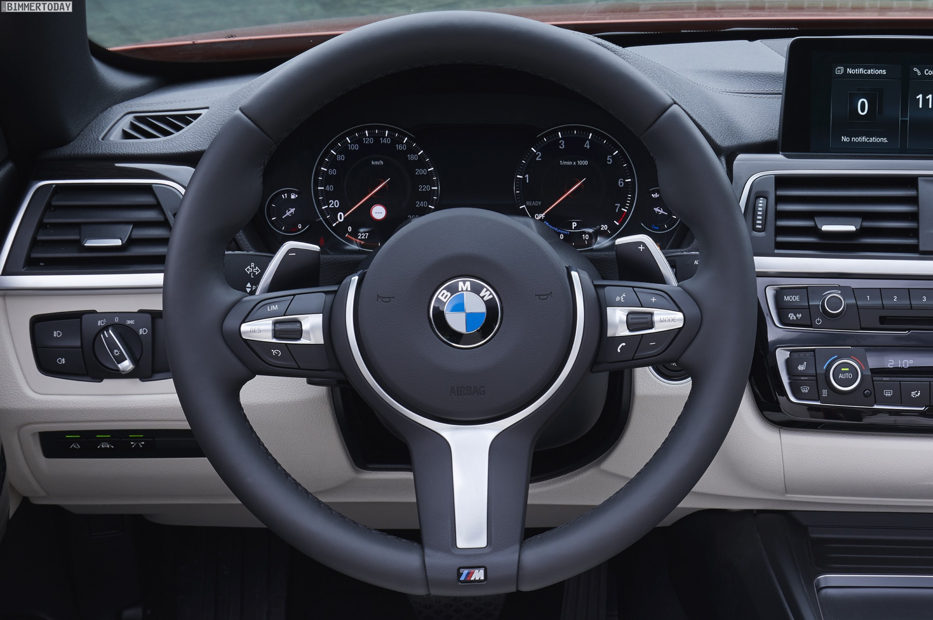 BMW's new Multifunction Instrument Display on new 3 Series and 4