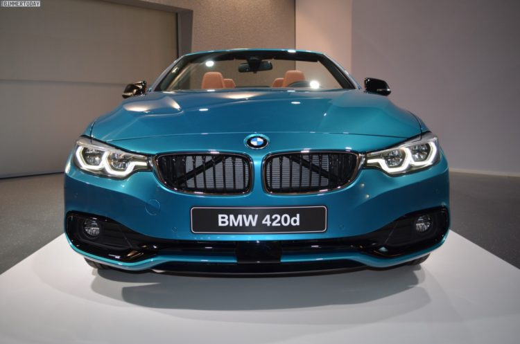 2017 Bmw 4 Series Cabrio 420d Facelift In Snapper Rocks Blue