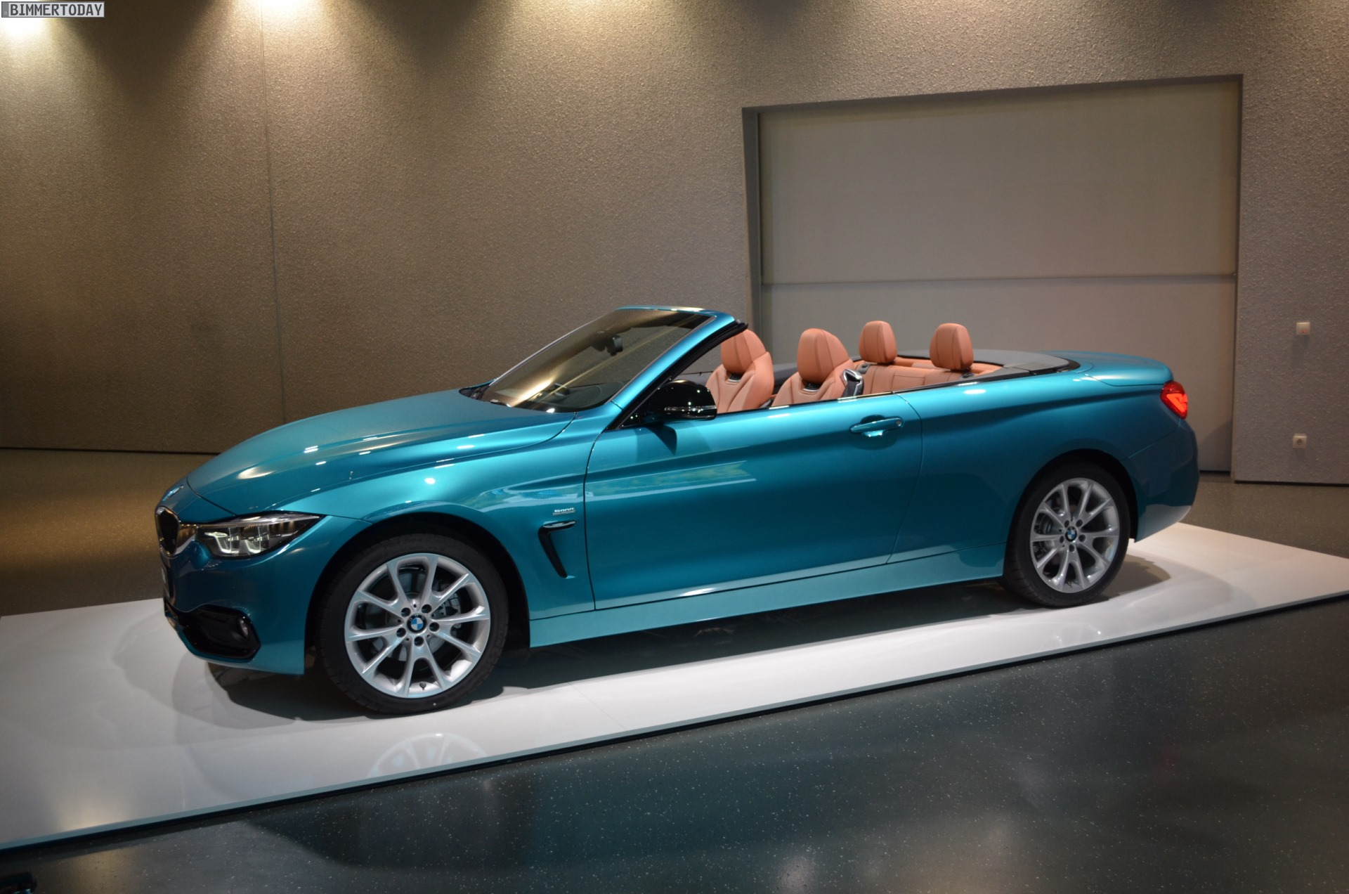 BMW 4er Cabrio Facelift 2017 Snapper Rocks Blue Sport Line F33 LCI 15