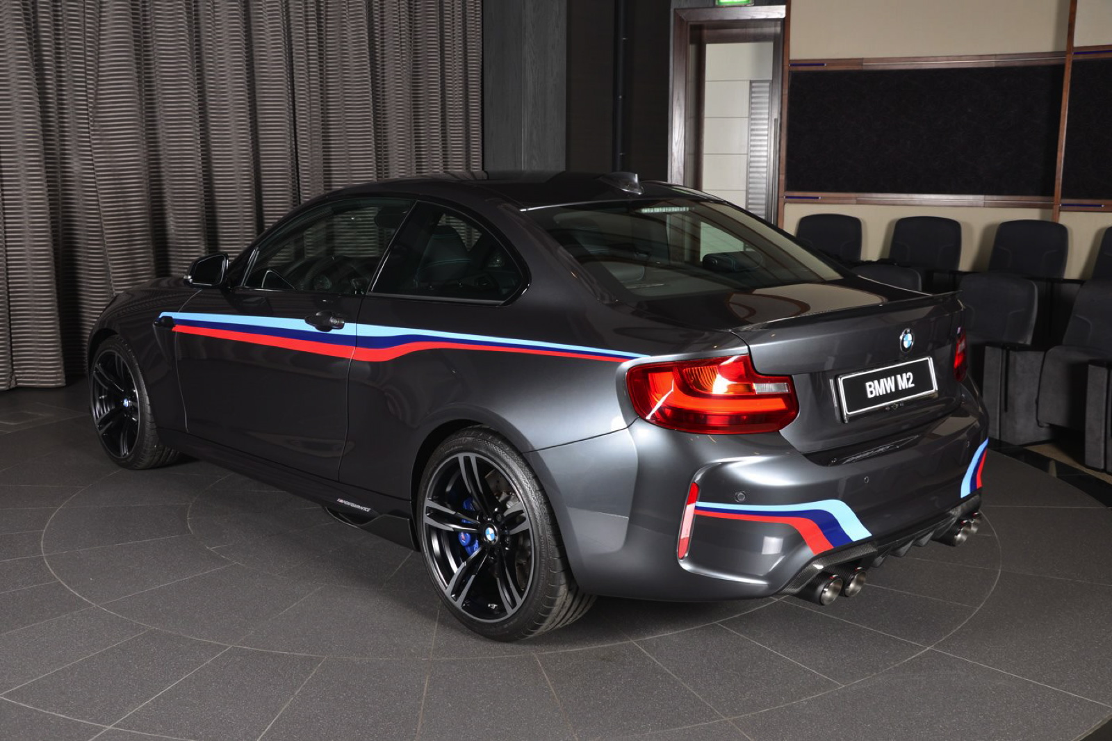 bmw m2 gets m performance parts and akrapovic exhaust system. Black Bedroom Furniture Sets. Home Design Ideas