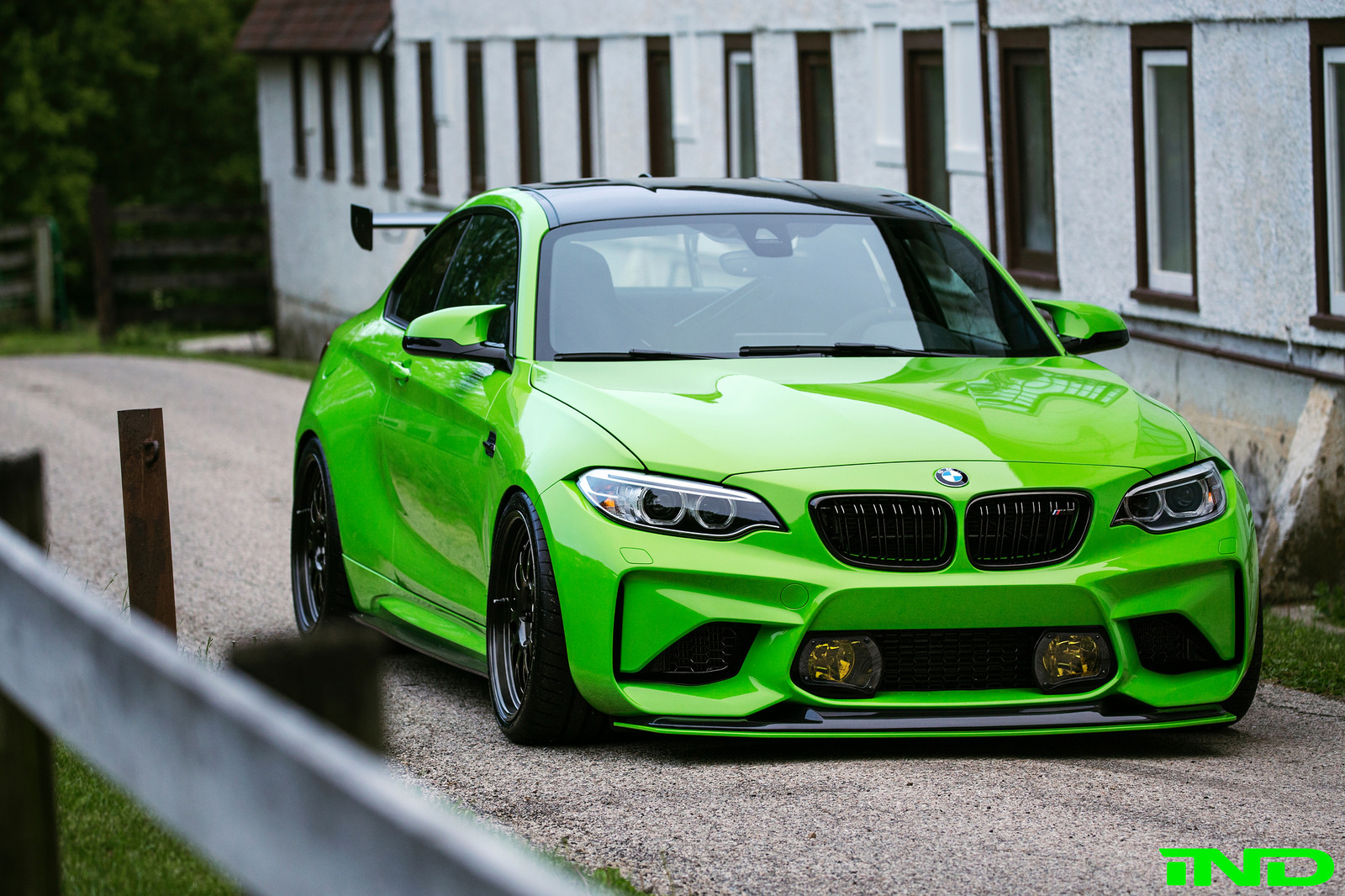 Ind Delivers A Hot Green Bmw M2 Coupe
