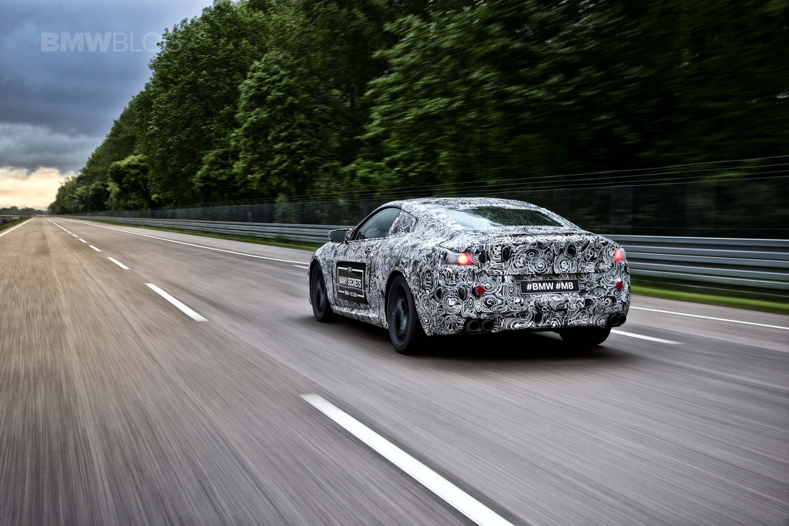 Listen to the BMW M8 exhaust, try and figure out the engine