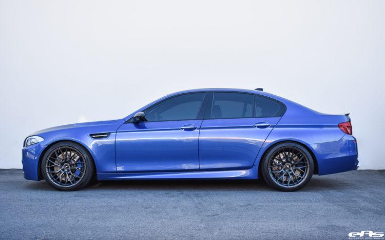 Monte Carlo Blue BMW F10 M5 Vorsteiner V FF 107 Wheels 1 750x469
