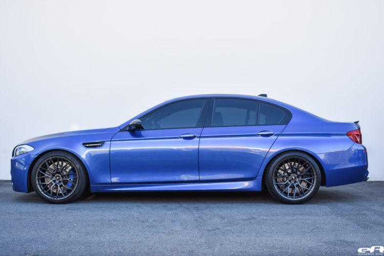 Monte Carlo Blue BMW F10 M5 Vorsteiner V FF 107 Wheels 1 750x500
