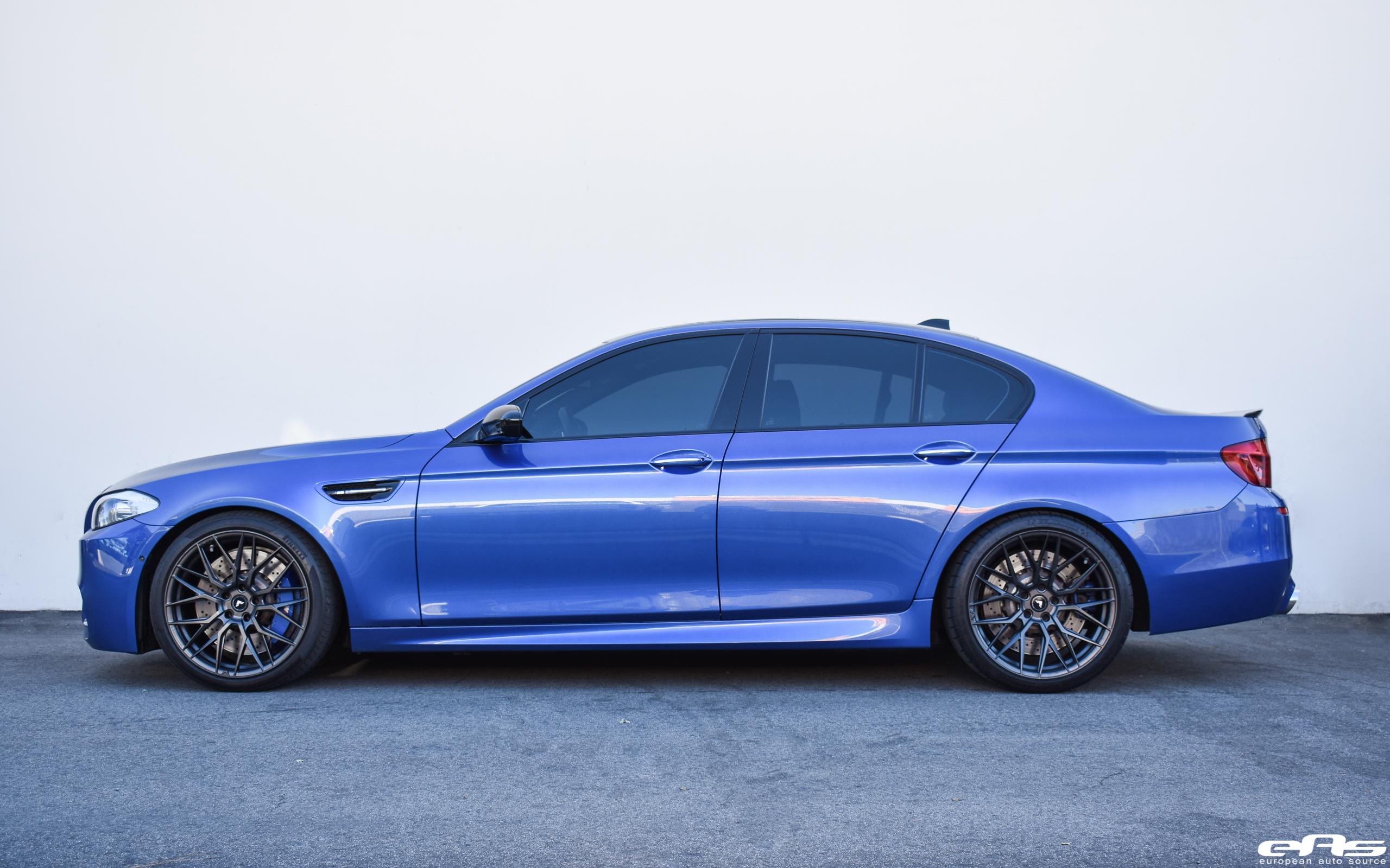 Monte Carlo Blue BMW F10 M5 Vorsteiner V FF 107 Wheels 1