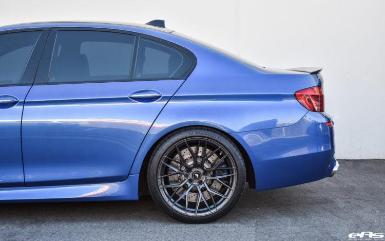 Monte Carlo Blue BMW F10 M5 Vorsteiner V FF 107 Wheels 3 750x469
