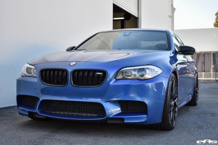 Monte Carlo Blue BMW F10 M5 Vorsteiner V FF 107 Wheels 7 750x500