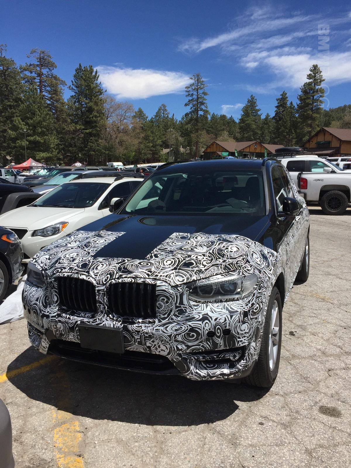 2018 BMW X3 spied 02 e1497280834172