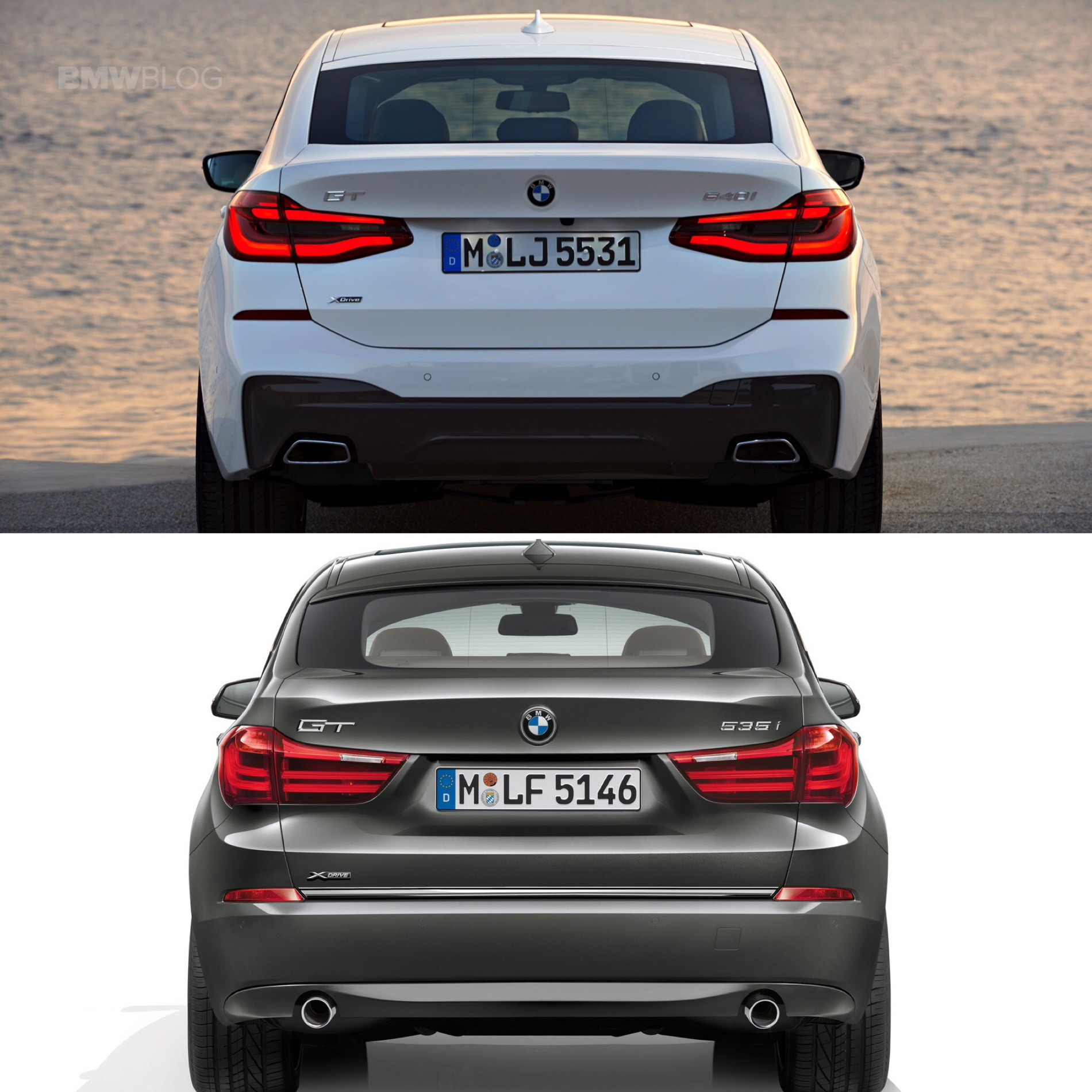 4 Series Vs 6 Series Concept: Photo Comparison: BMW 6 Series GT Vs. 5 Series GT