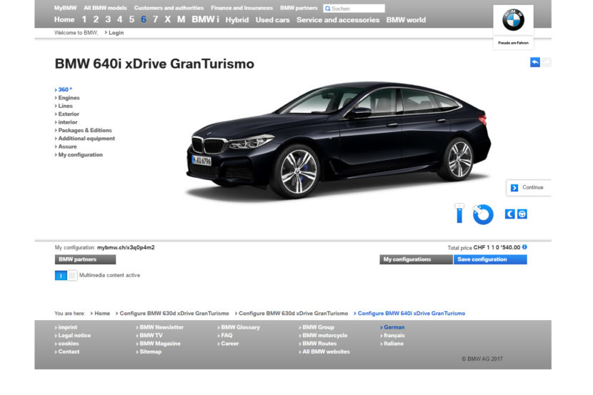 BMW 6 Series Gran Turismo2 830x553
