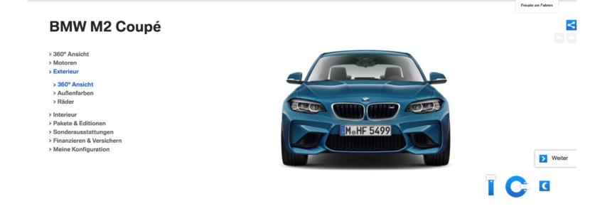 BMW M2 Facelift configurator 830x297