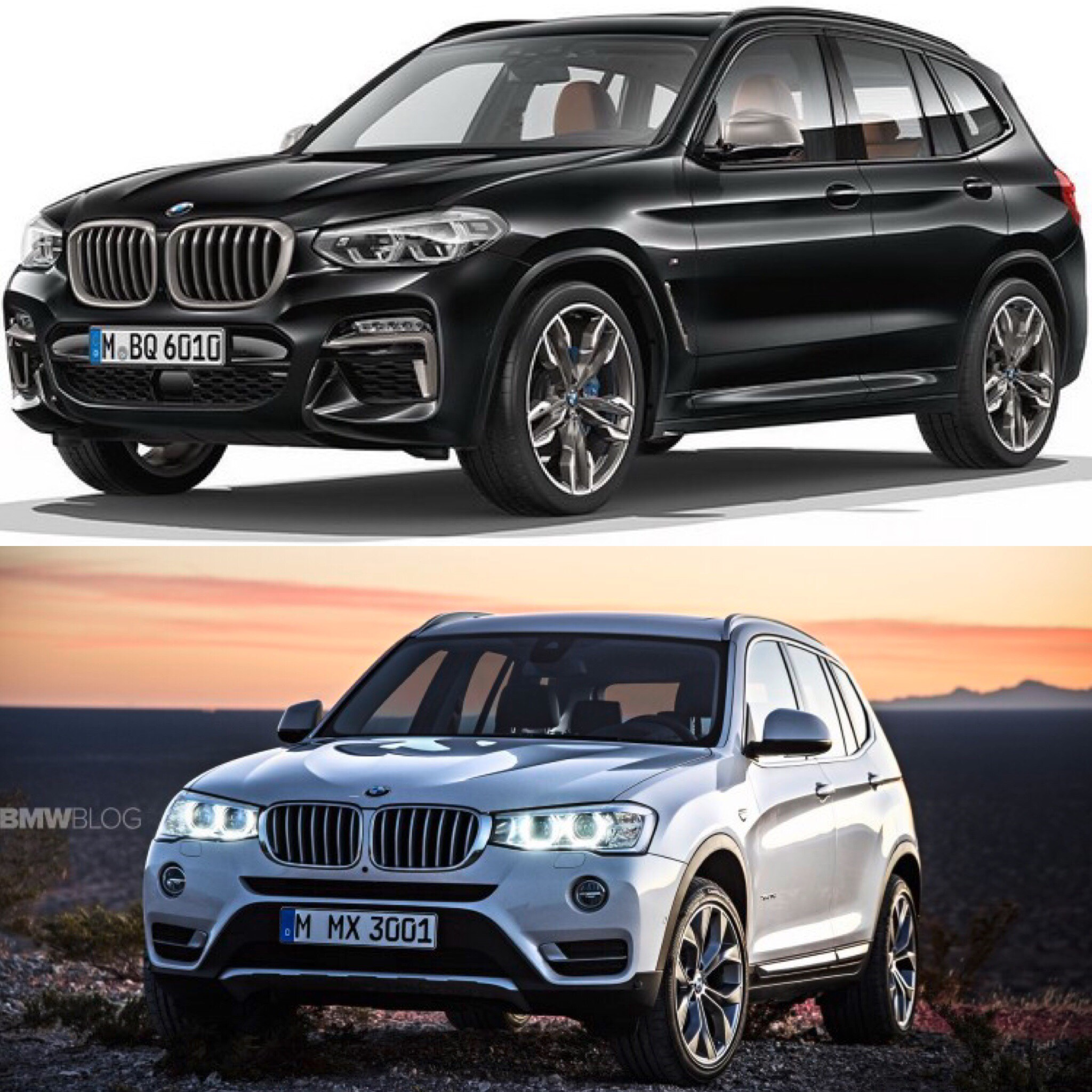 photo comparison g01 bmw x3 vs f25 bmw x3. Black Bedroom Furniture Sets. Home Design Ideas