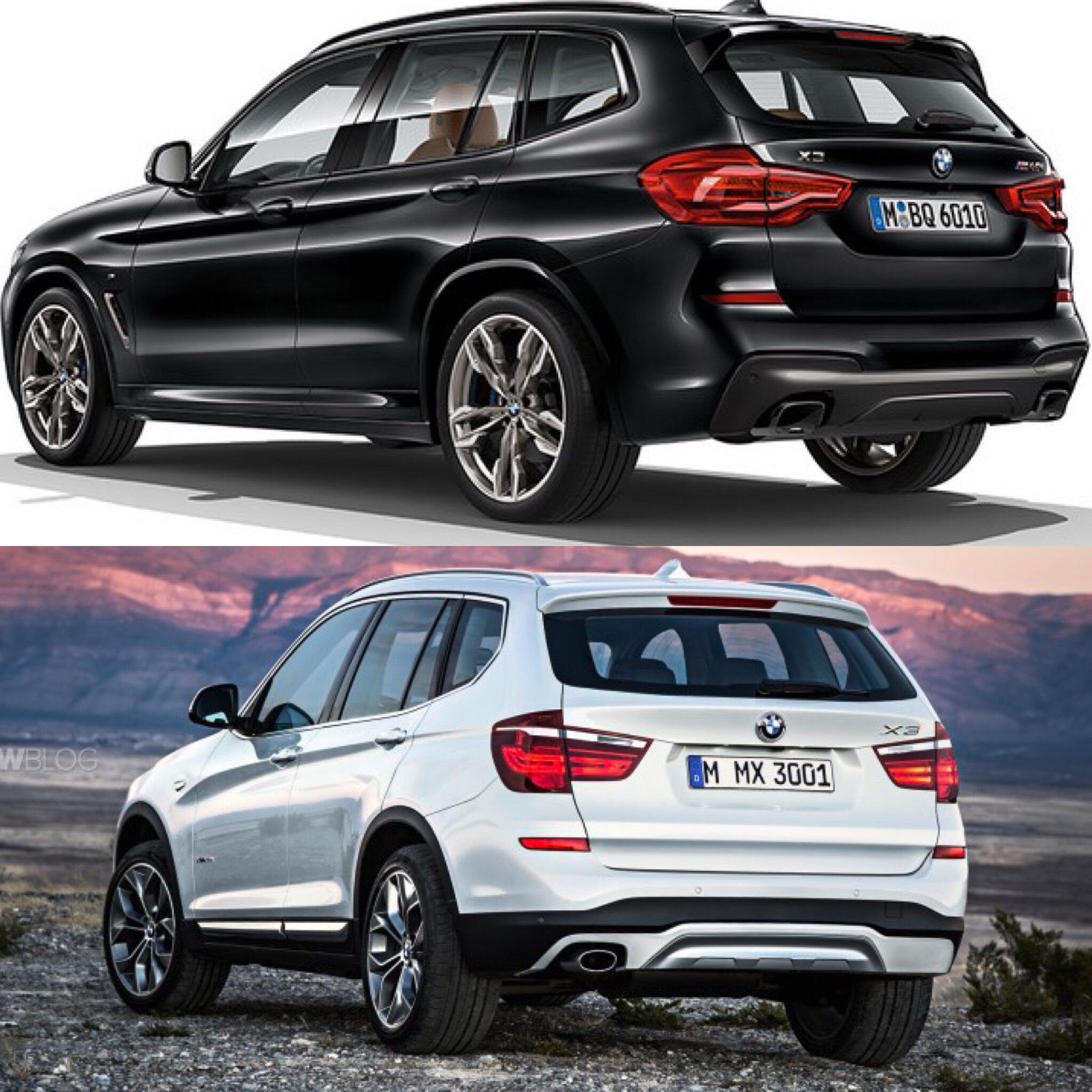 Bmw2017: Photo Comparison: G01 BMW X3 Vs F25 BMW X3
