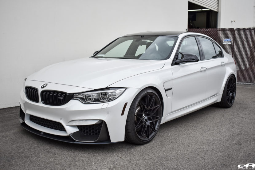 A Mineral White BMW M3 ZCP Gets M Performance Parts Installed