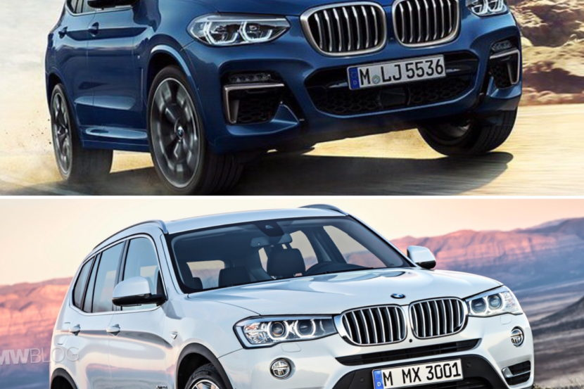 New BMW X3 vs old bmw x3 01 830x553