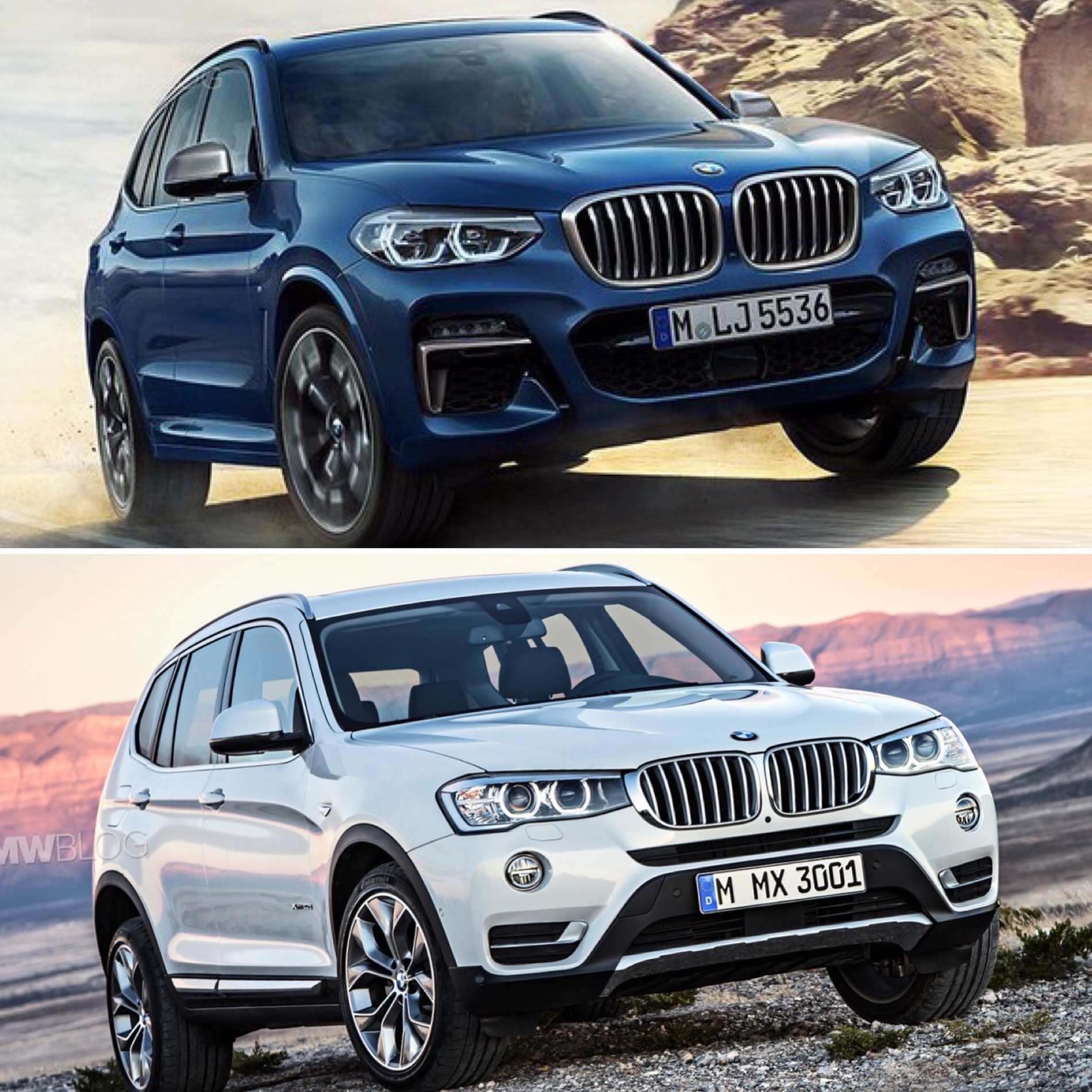2018 Bmw X1 Vs X3 >> Photo Comparison: G01 BMW X3 vs F25 BMW X3
