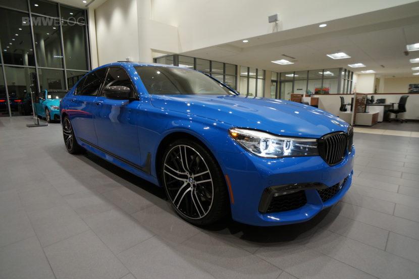 Santorini Blue BMW 740i 23 830x553