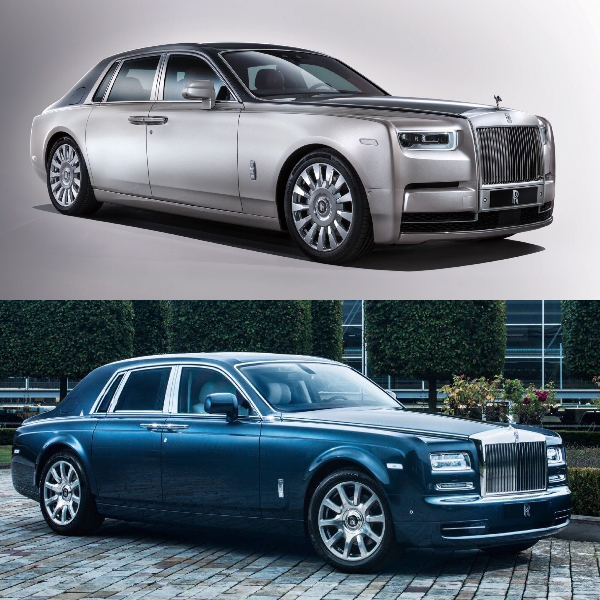 Photo Comparison Rolls Royce Phantom Viii Vs Rolls Royce
