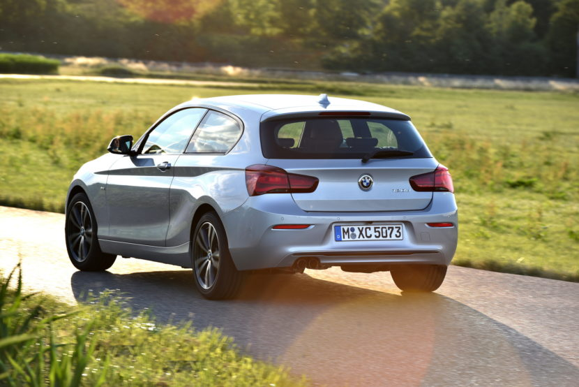 The biggest news comes inside though as the 1 Series gets the same cabin upgrades as the new 2 Series Coupe and Convertible. So the main dash trim starts ... & Photo Gallery: 2017 BMW 1 Series Hatchback 3 and 5 door