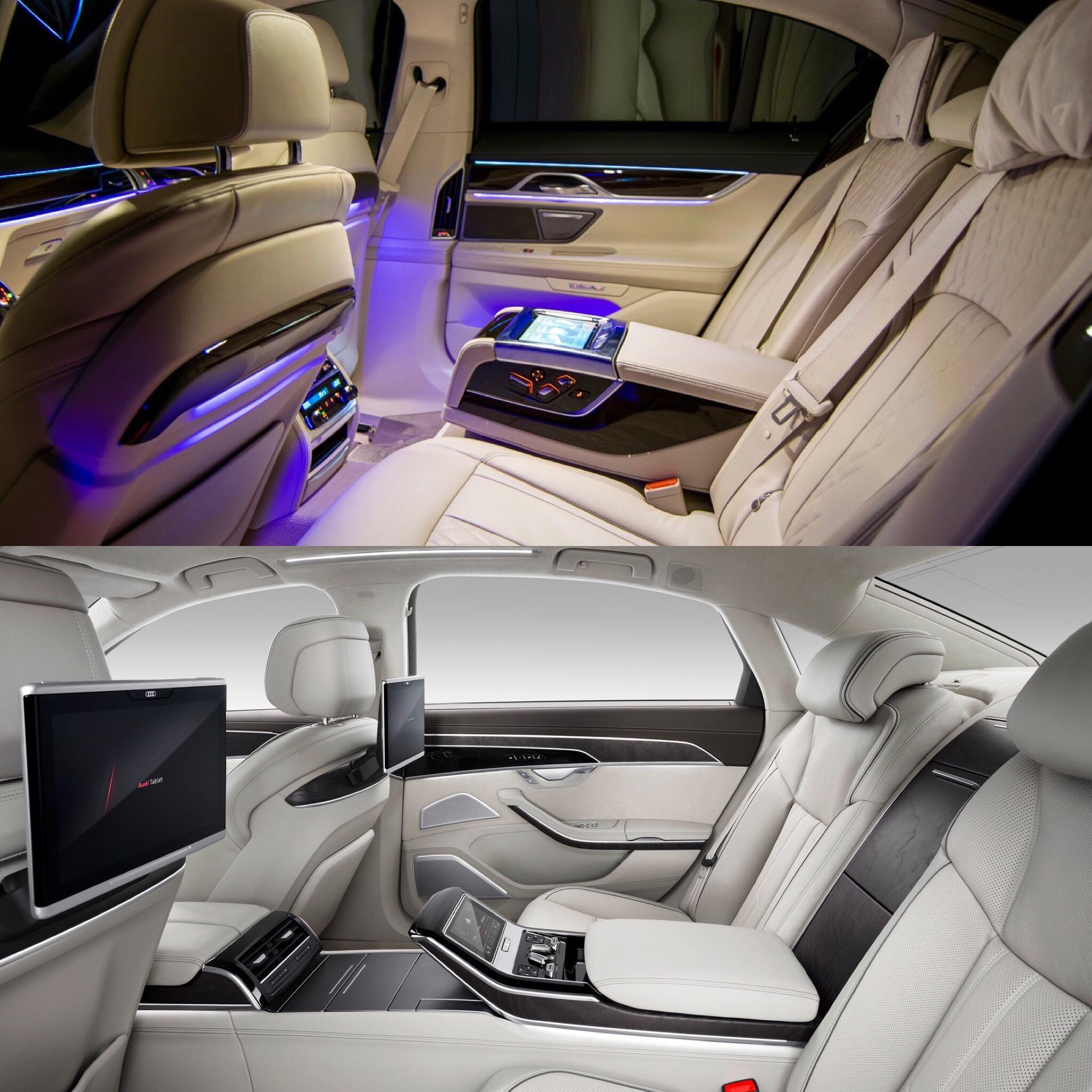 Photo Comparison: BMW 7 Series Vs 2018 Audi A8