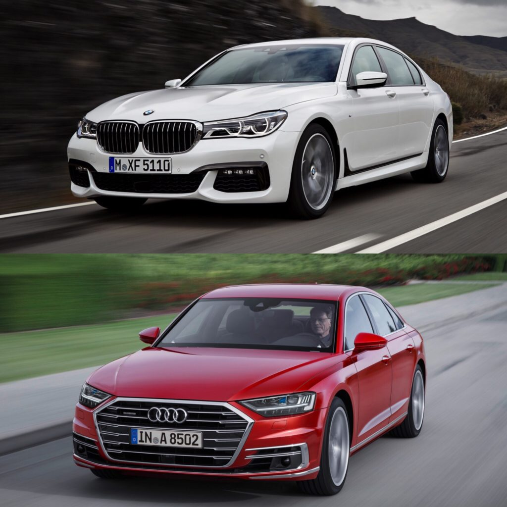 Bmw X7 2018: Photo Comparison: BMW 7 Series Vs 2018 Audi A8