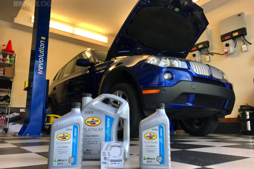 BMW X3 oil change 01 830x553