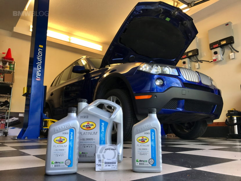 BMW X3 oil change 01 830x623