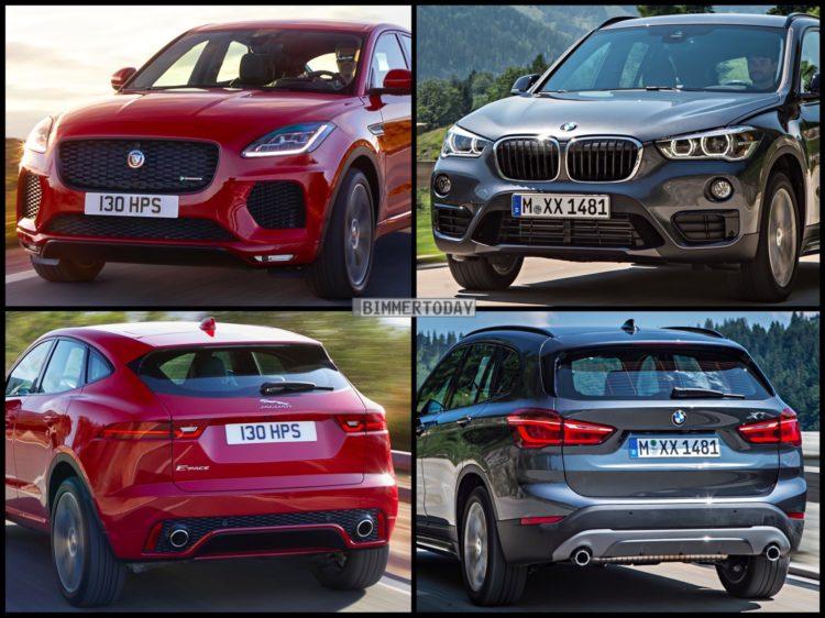 Bild Vergleich BMW X1 F48 Jaguar E PACE 2017 01 750x562