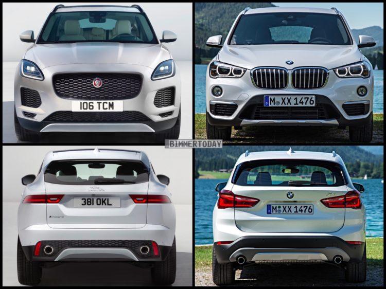 Bild Vergleich BMW X1 F48 Jaguar E PACE 2017 04 750x562