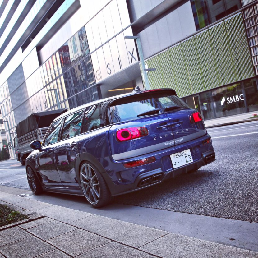 mini clubman gets amg exhaust and body kit in japanese tuning project 4 830x830