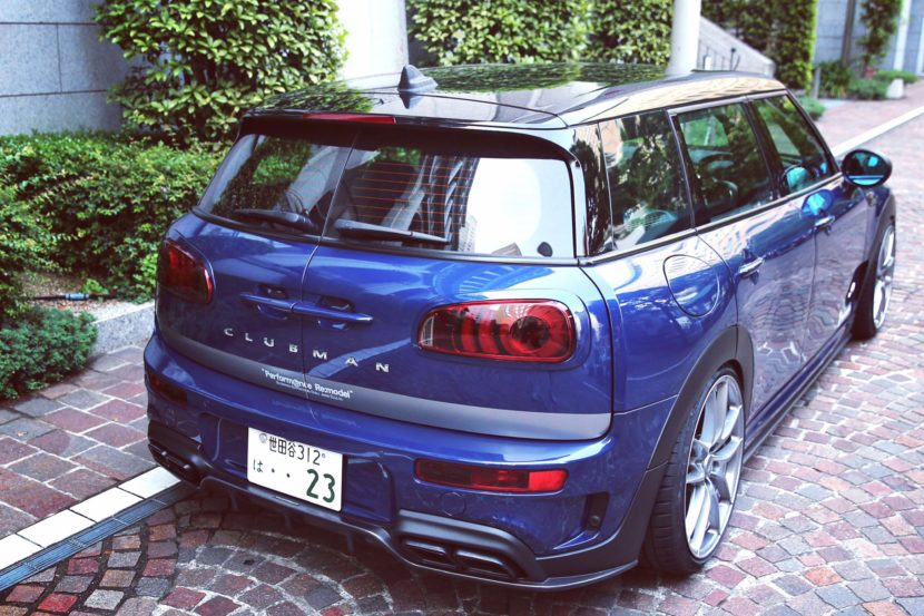 mini clubman gets amg exhaust and body kit in japanese tuning project 7 830x553