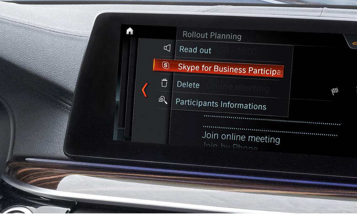 skype for business car bmw