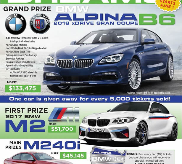 BMW CCA Car Of Your Dreams Raffle Offers A Chance At An ALPINA B - Bmw plano car show