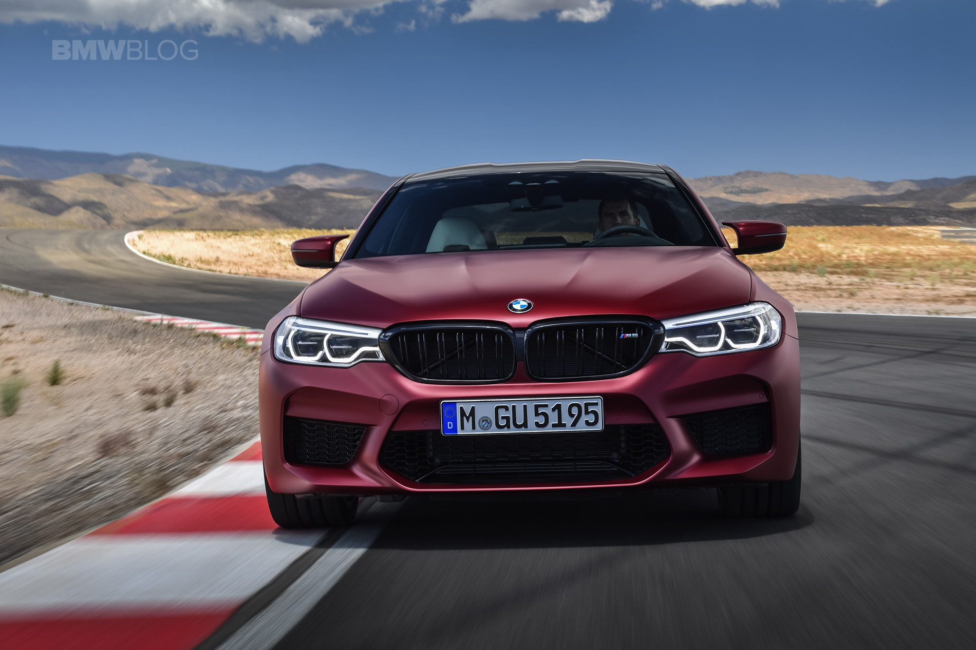2018 BMW M5 Frozen Dark Red Metallic 01