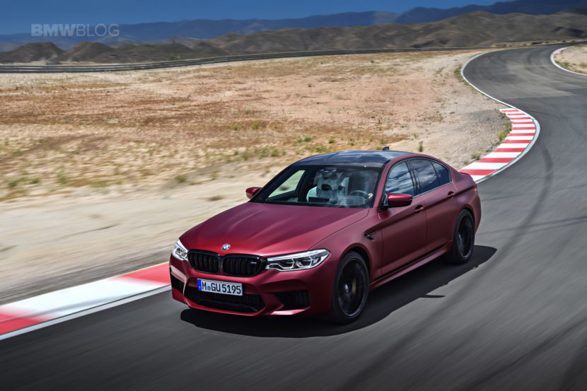 2018 BMW M5 Frozen Dark Red Metallic 02 830x553