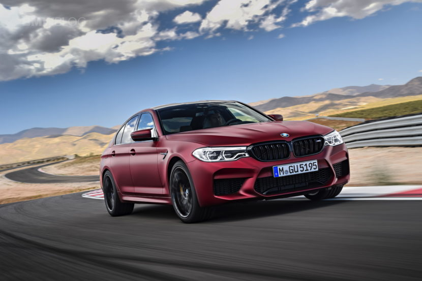 2018 BMW M5 Frozen Dark Red Metallic 03 830x553