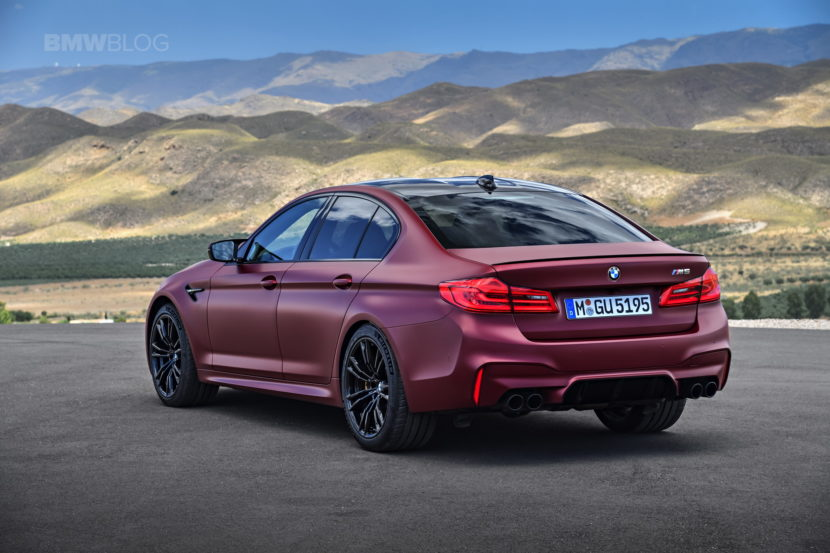 2018 BMW M5 Frozen Dark Red Metallic 06 830x553